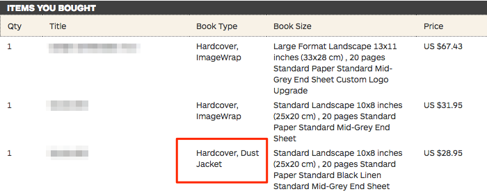can i order a dust jacket separately help center
