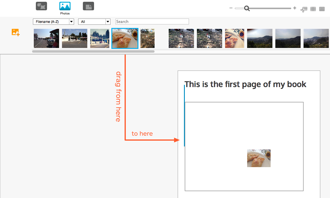 BookWright-Bildleiste